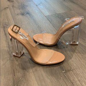 Cute strap clear heels